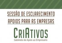 Gabinete Criativos organiza Sessões de Esclarecimento para empresários locais