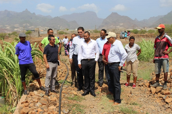 Projeto Raízes recebe visita do Ministro da Economia e Emprego de Cabo Verde