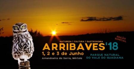 ArribAves'18, de 1 a 3 de junho, na Amendoeira da Serra