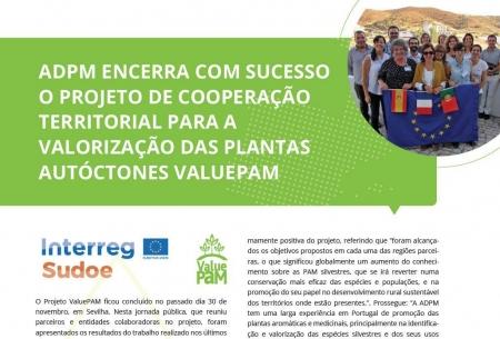 Projeto ValuePAM em destaque no Diário do Alentejo