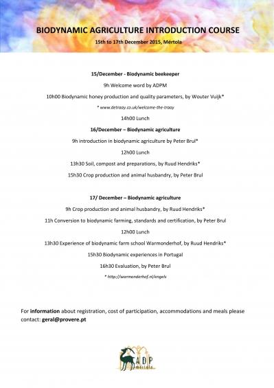 Biodynamic Agriculture Introduction Course | Curso de Introdução à Agricultura Biodinâmica