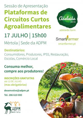 Sessão de Apresentação Plataformas de Circuitos Curtos Agroalimentares