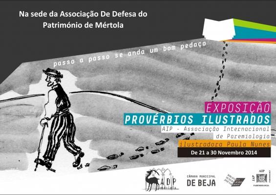 ADPM apresenta Exposição de Provérbios Ilustrados da Associação Interacional de Paremiologia, ilustrada por Paula Nunes