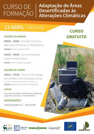 Projeto Life Desert Adapt promove cursos em Mértola com entrada gratuita!