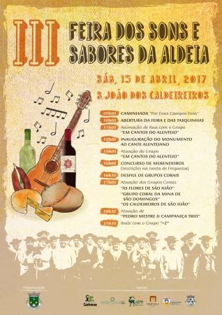 Decorre a 15 de Abril a III Feira dos Sons e Sabores da Aldeia em S. João dos Caldeireiros