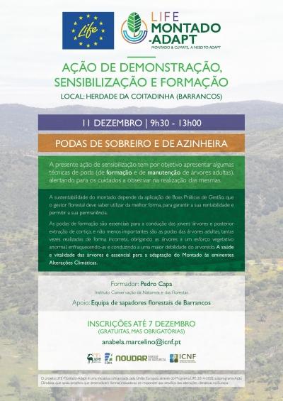 Estão abertas as inscrições para formação em Barrancos no âmbito do Projeto Life Montado-Adapt