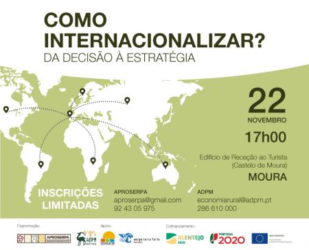 ADPM E APROSERPA PROMOVEM WORKSHOP DE APOIO À INTERNACIONALIZAÇÃO DE PME'S EM MOURA